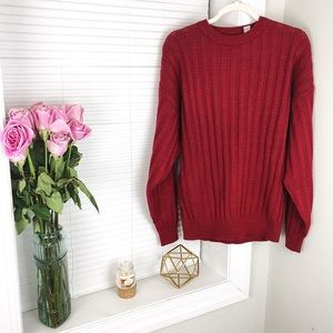 Saturday's NYC Vintage Red Acrylic Sweater